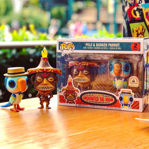 POP! Disney - Enchanted Tiki Room - Pele & Barker Parrot - Disneypark Exclusive
