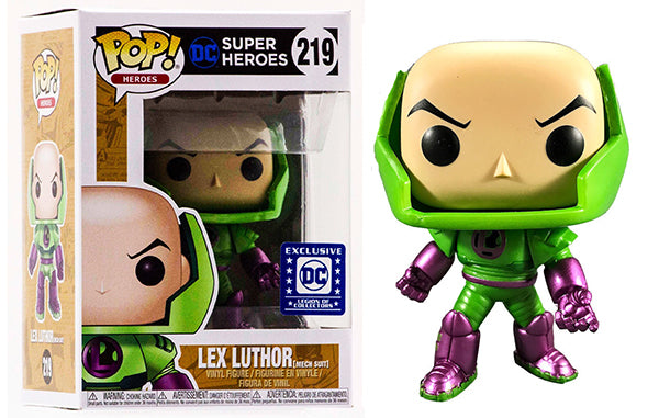 POP! Heroes - Lex Luthor Metallic Mech Suit - Legion of Collectors Exclusive *FREE SHIPPING*