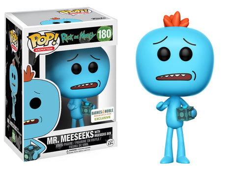 POP! Rick & Morty - Mr. Meeseeks with Meeseeks Box - Barnes & Noble Exclusive
