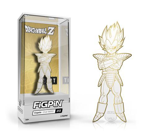 FIGPIN - Dragon Ball Z Vegeta Over9000 White Gold - Anime Expo Exclusive LE 1000