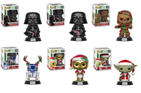 POP! Star Wars Holiday Set of 6 Complete Chase Bundle