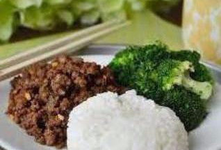 Lean Ground Beef Rice Bowl