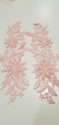 Apricot Lace Motiff Pair