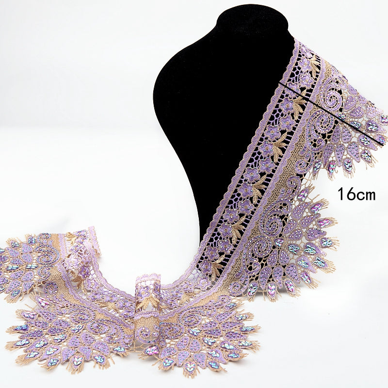 Purple Hot Drilling Lace