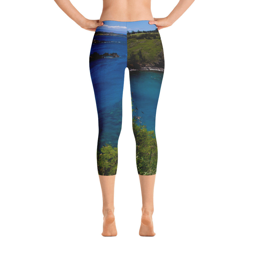 Boating Bliss Printed Capri Leggings
