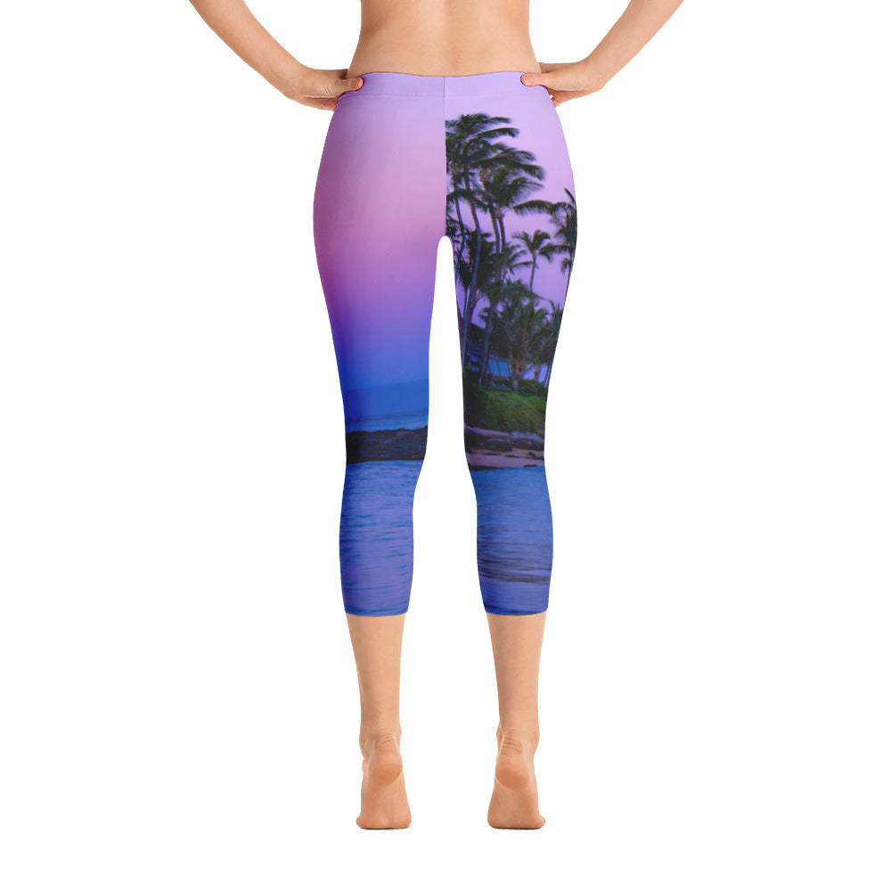 Maui Sunset Capri Leggings