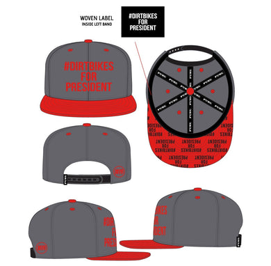 DBFP Stack Hat Red/Grey