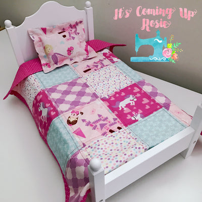 Doll Quilt & Pillow 2-Pc Set -