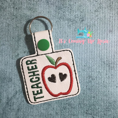 Teacher Apple Keychain