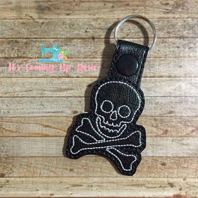 Skull and Crossbones Keychain