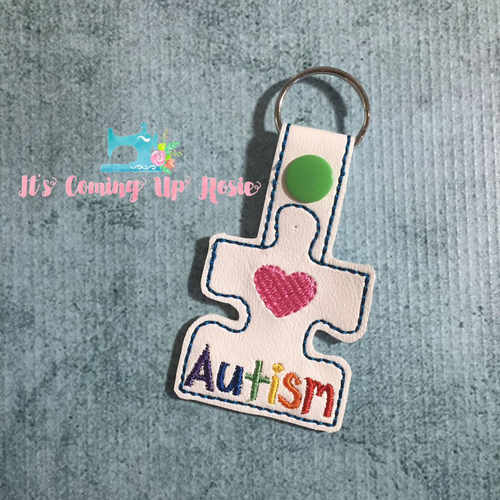 Autism Awareness Puzzle Keychain