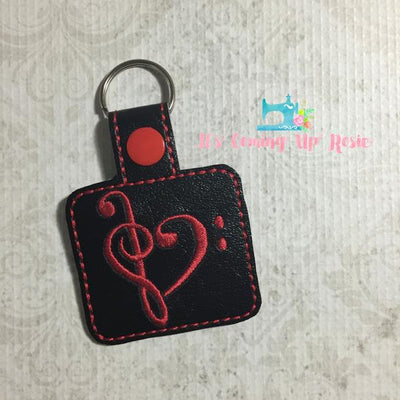 Music Heart Keychain