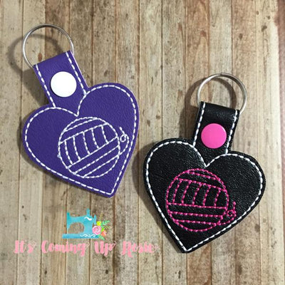 Yarn Heart Keychain