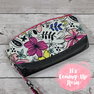 Grafitti Floral Clematis Wristlet - IN STOCK!