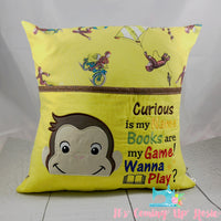 Curious George Reading Pillow