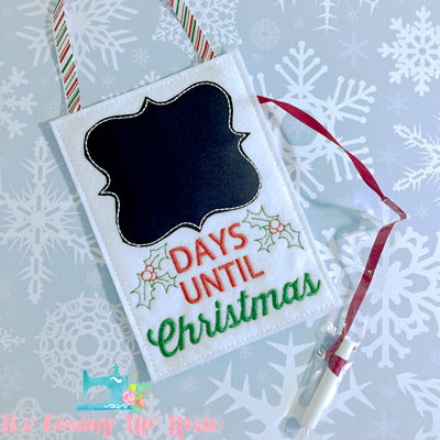 Days Until Christmas Chalkboard Countdown