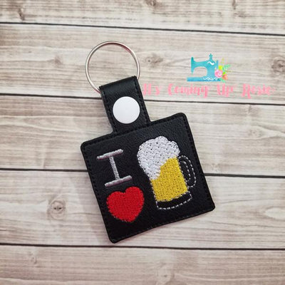 I Heart Beer Keychain
