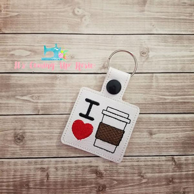 I Heart Coffee Keychain