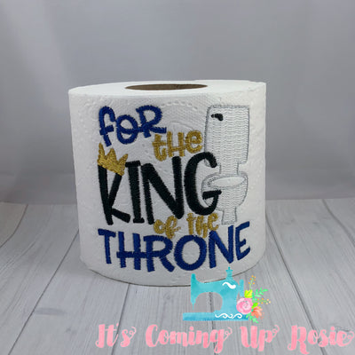For the King of the Throne - Father's Day Novelty Toilet Paper