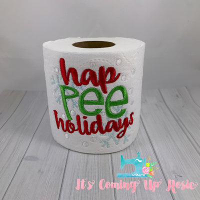 Hap Pee Holidays - Novelty Toilet Paper