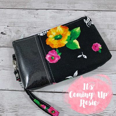 Black Floral Harvey Clutch - IN STOCK!