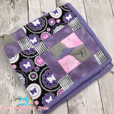 Cuddle Quilt - Pink & Purple Medallions - IN STOCK!