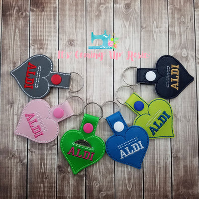 Aldi Heart Coin Keeper Keychain