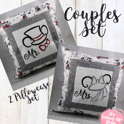 Mickey & Minnie Bridal Pillow Case Set