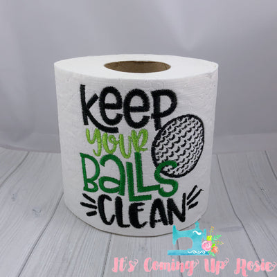 Keep Your Balls Clean - Golf Novelty Toilet Paper