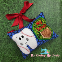 Baseball Tooth Fairy Pillow - One of A Kind