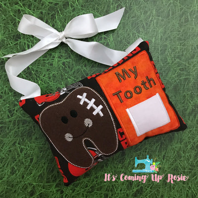 Football Tooth Fairy Pillow - One of A Kind