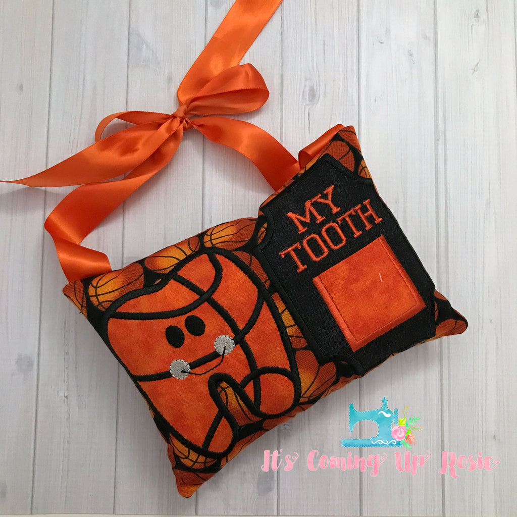 Basketball Tooth Fairy Pillow - One of A Kind