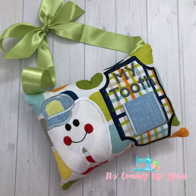 Boy with Cap Tooth Fairy Pillow - One of A Kind