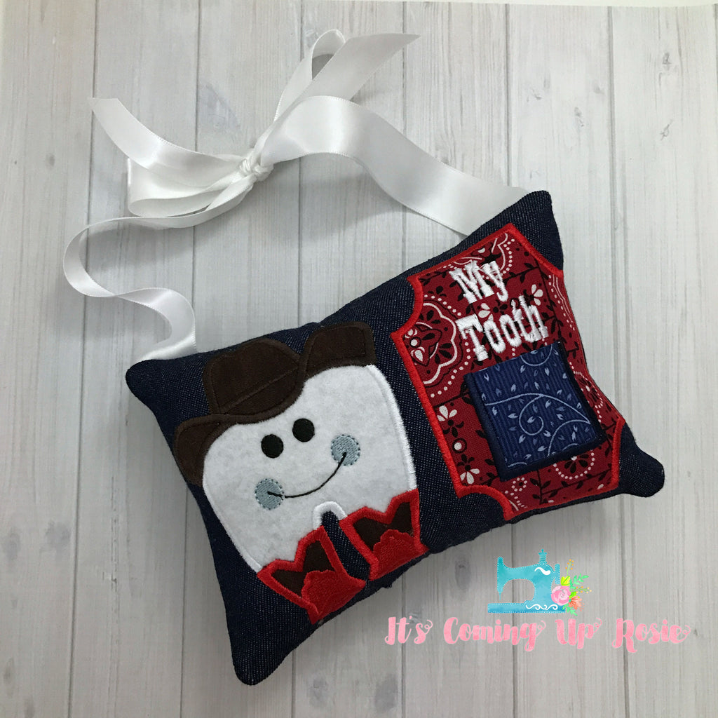 Cowboy Tooth Fairy Pillow - One of A Kind
