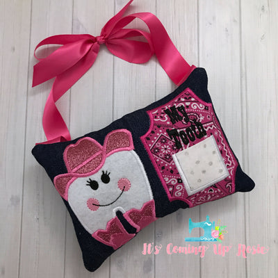 Cowgirl Tooth Fairy Pillow - One of A Kind