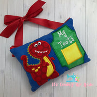 Dino Tooth Fairy Pillow - One of A Kind
