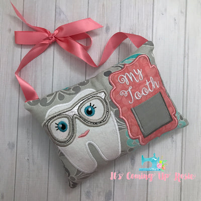 Hipster Girl Tooth Fairy Pillow - One of A Kind