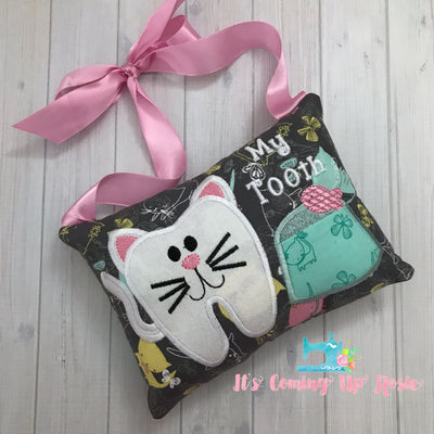 Kitty Tooth Fairy Pillow - One of A Kind