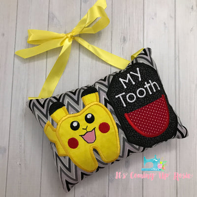Pokemon Pikachu Tooth Fairy Pillow - One of A Kind