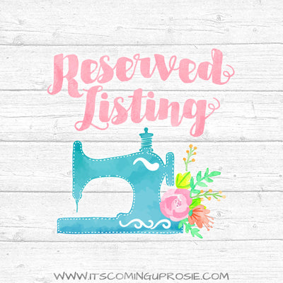 Reserved Listing for Gail H. #3