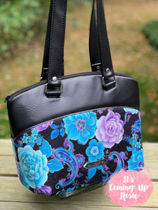Blue & Purple Floral Lola Handbag