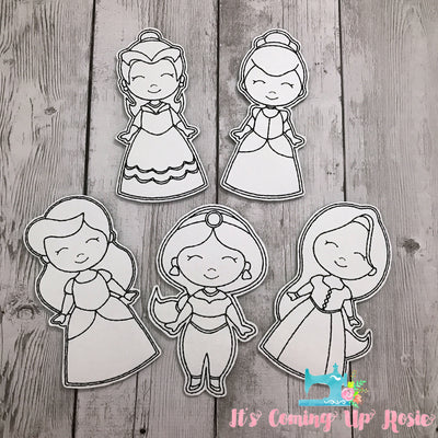 Coloring Dolls - Princesses