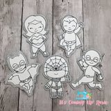 Coloring Dolls - Super Heroes