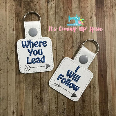 Gilmore Girls Where You Lead Keychain Set