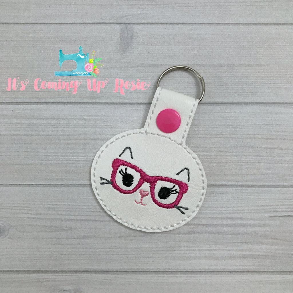 Hipster Kitty Keychain