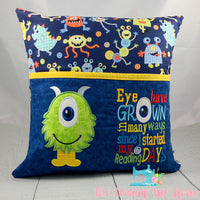 Monster Reading Pillow