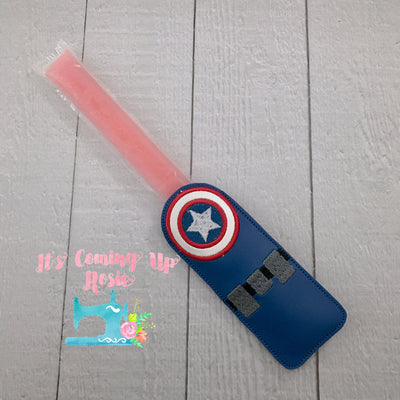 Captain America Freezer Pop Holder