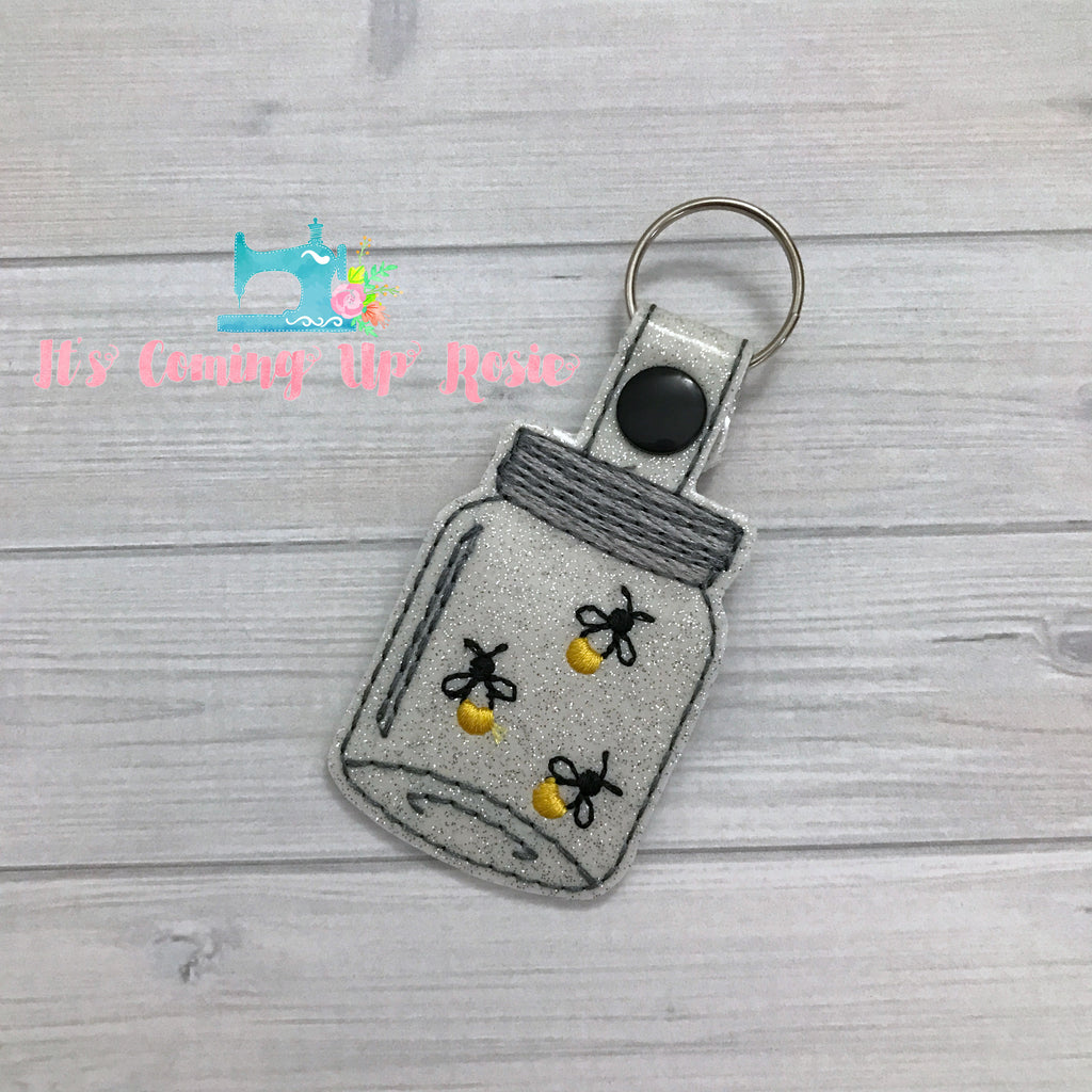 Lighting Bug Mason Jar Keychain
