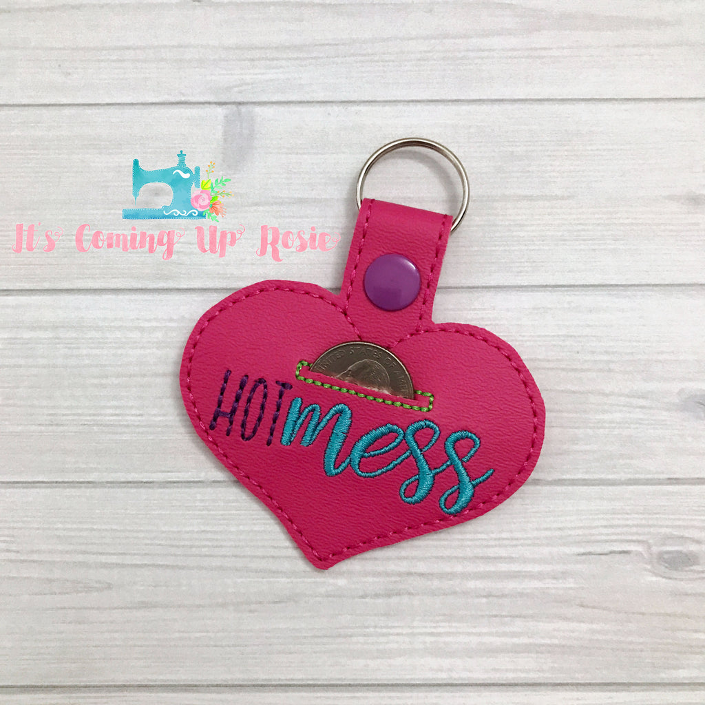 Hot Mess Coin Keeper Heart Keychain