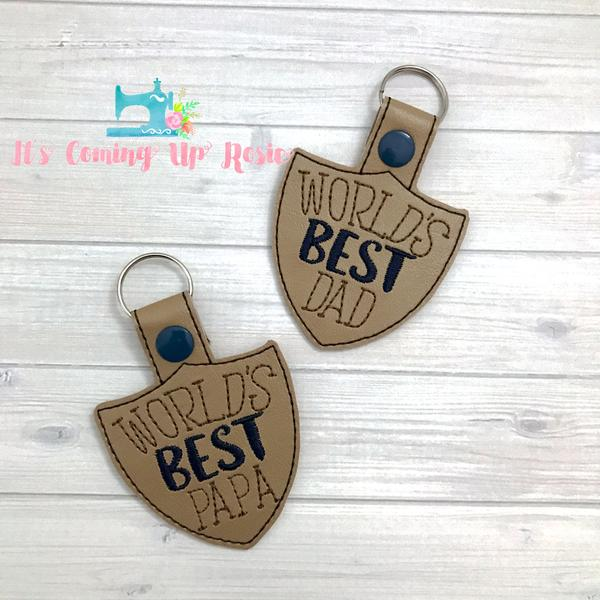 World's Best Dad/Papa Keychain